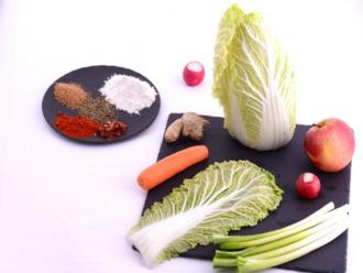 kimchi fűszerek és zöldségek